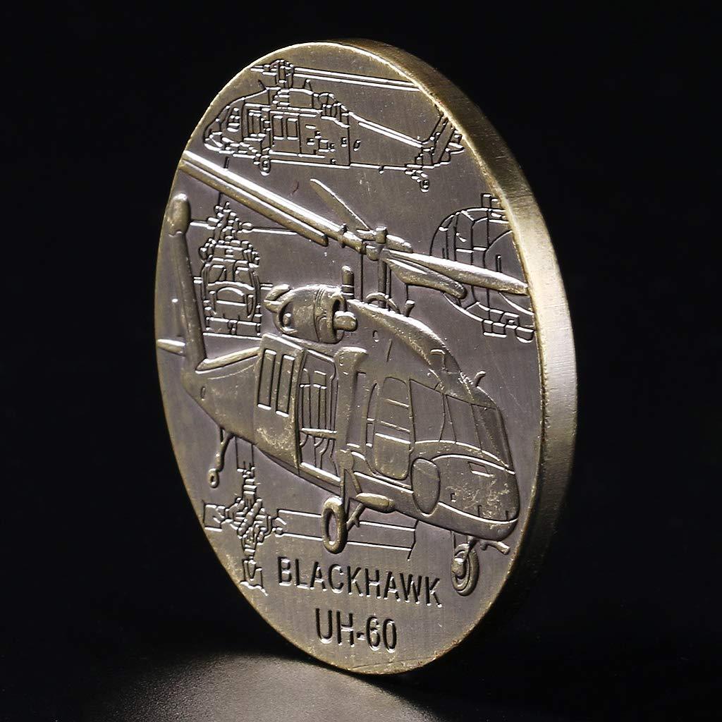 FANER Black Hawk UH-60 Recuerdo de Regalo conmemorativo de la colecci/ón de Monedas Conmemorativa