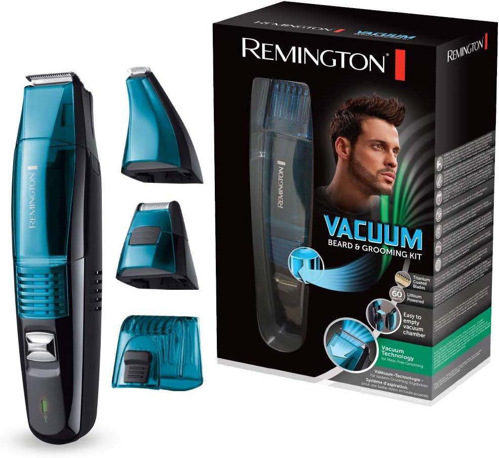 Remington MB6550 Vacuum - Kit barbero, cuchillas revestidas de titanio, aspiración