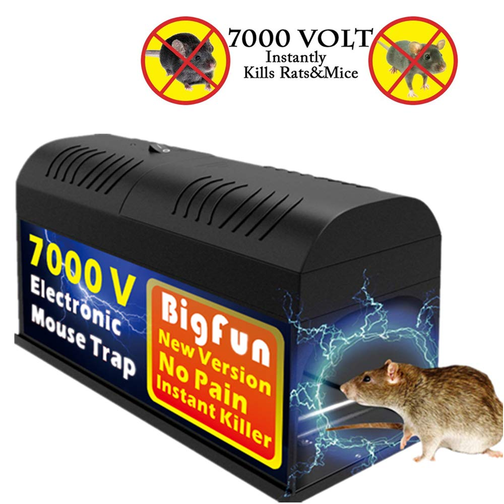 Big Fun Electronic Mouse Rodent Traps High Voltage Trap Emitting Effective Powerful Kill Solution For Rat Squirrels Mice And Similar Rodents Pest