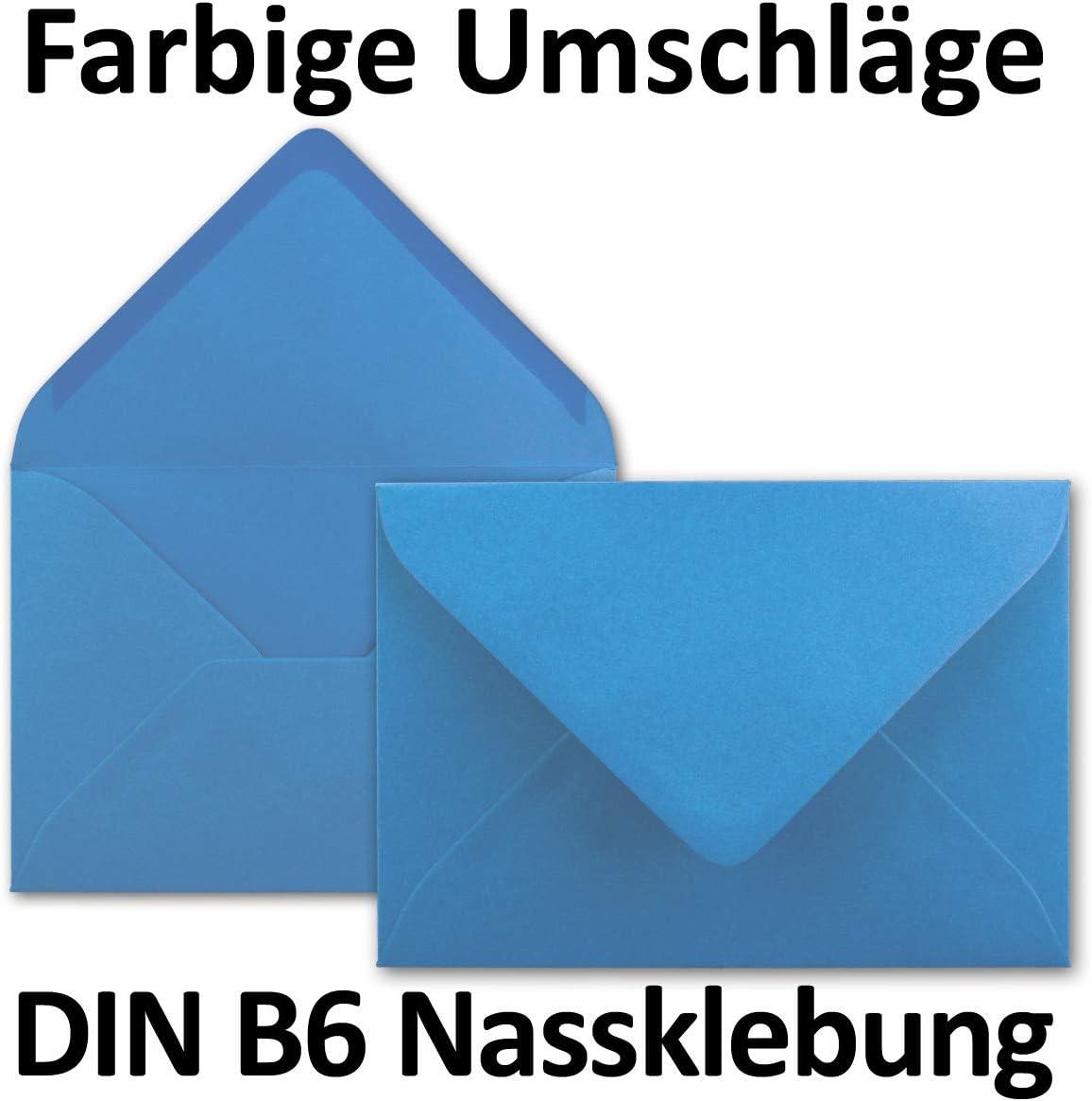 chiusura adesiva da inumidire 25 Umschl/äge Flieder dimensioni/175 x 125/mm formato B6 Neuser Buste da lettere da 80 g//m/² in colori vivaci