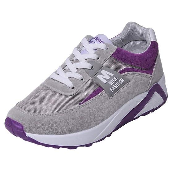 Zapatillas Deportivas de Mujer,YiYLunneo Malla Exterior Shoes Deportivas Informales Sneakers con Amortiguación de Aumentar Gruesa Zapato Zapatos: Amazon.es: ...