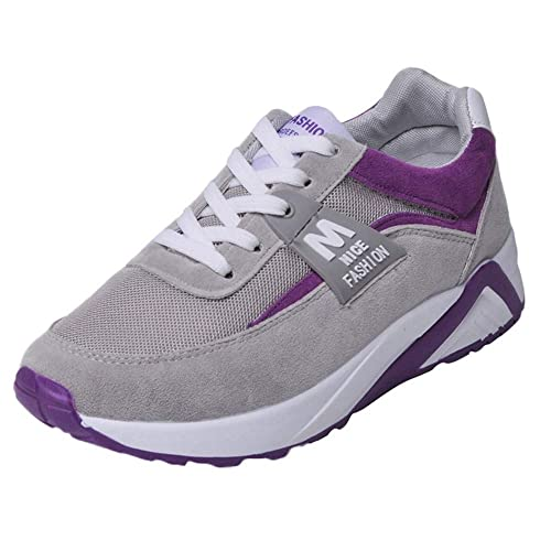 Zapatos Sneakers Zapatillas Mujer Running Casual Yoga Calzado Deportivo de Exterior de Mujer,Moda Mujer Malla Transpirable Zapatos Zapatillas con Cordones ...