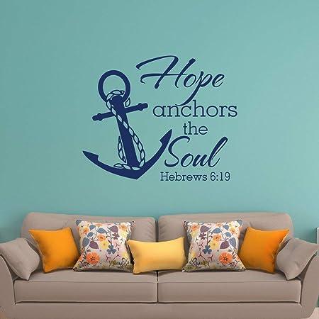 Hope Anchors The Soul Vinilo de pared Etiqueta de la escritura ...