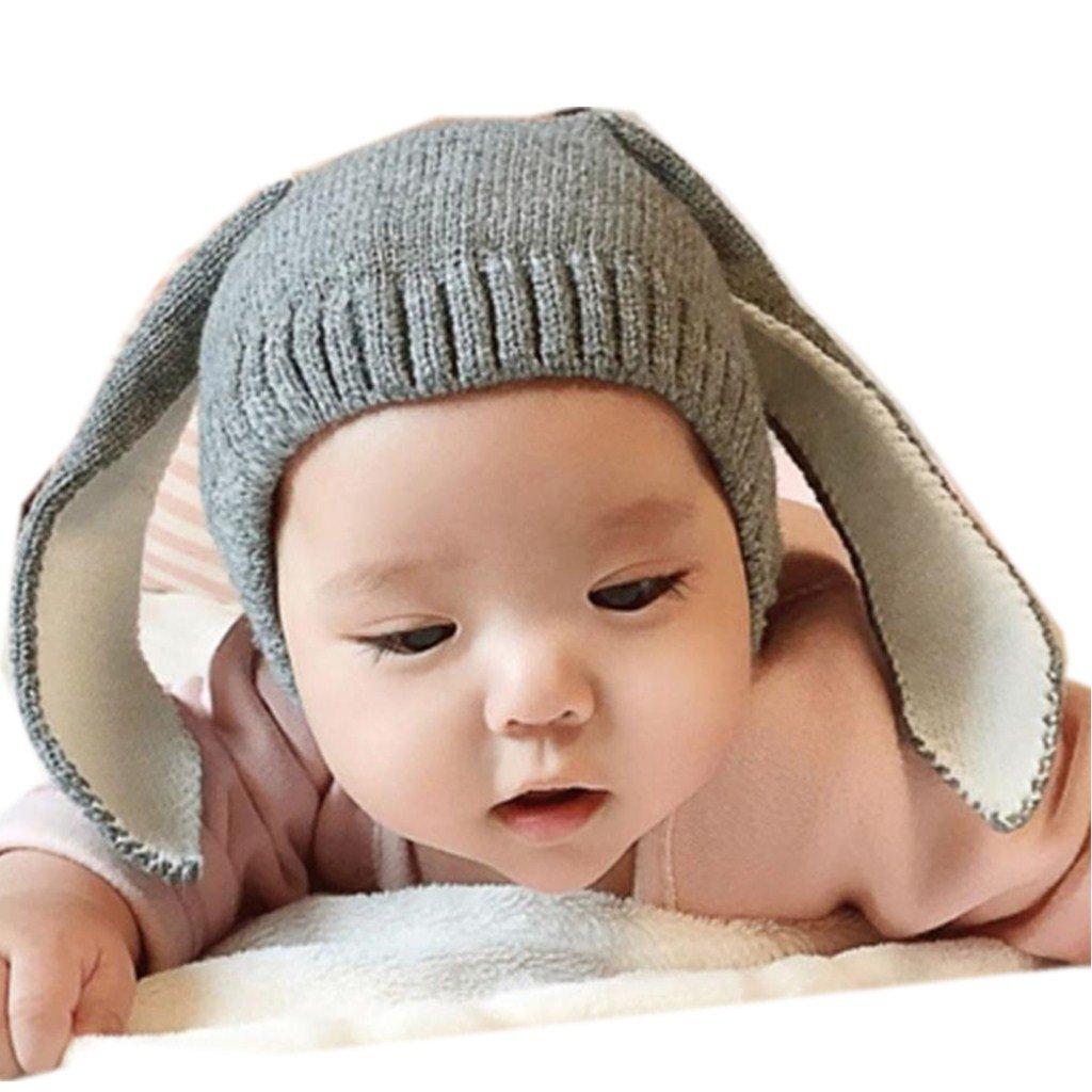 af0b9cc7970c6 Baby Boy Girl Knitted Cartoon Bunny Ear Beanie Hat Cap