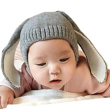 b412b0d17af Baby Boy Girl Knitted Cartoon Bunny Ear Beanie Hat Cap
