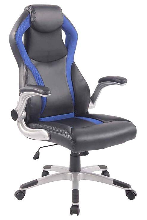 CLP DONINGTON - Silla de Oficina con reposacabezas y tapizado de Piel sintética, Color Negro