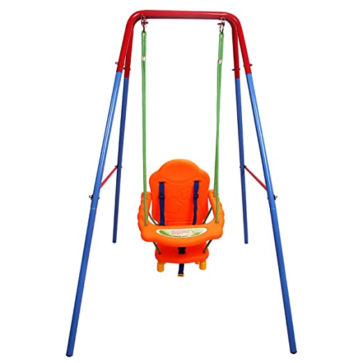 Amazon Com Costzon Toddler Swing Seat High Back A Frame Outdoor