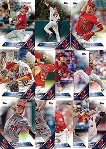 2016 Topps Series 1 Los Angeles Angels Baseball Card Team Set  13 Card Set  Includes Mike Trout, Kole Calhoun, Garrett Richards, Jered Weaver, and more!