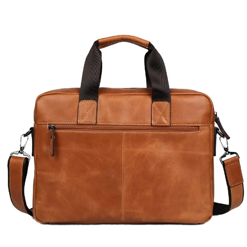 Leather Briefcase Leather Tote Bag Business Mens Leather Laptop Slung Bag Messenger Bag