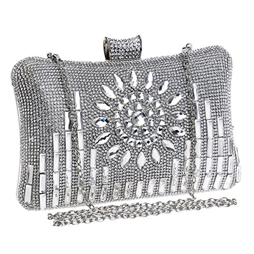 2 Clutch Dinner Bag And Women's Evening Lady QEQE Diamond 3 Color Party Europe America vOW6Fq