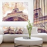 Paris Paris Eiffel TowerParis Postcard Design Cityscape Canvas Print Art