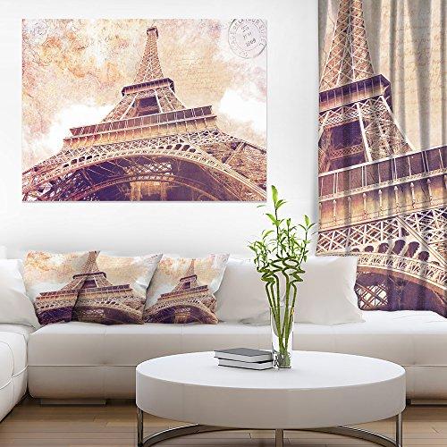 Paris Paris Eiffel TowerParis Postcard Design Cityscape Canvas Print Art by Design Art