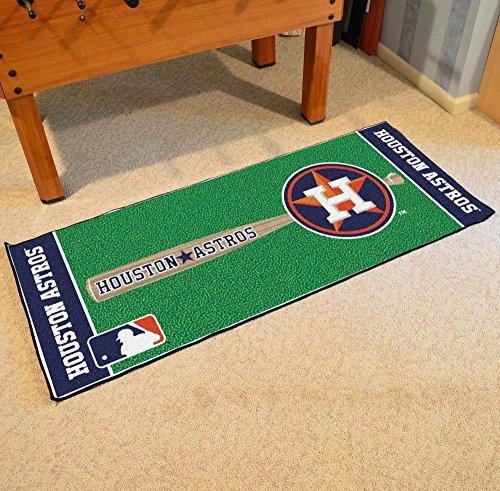 Astros Floor Rug Houston - Fanmats Home Indoor sports Team Logo Houston Astros Baseball Runner Mat
