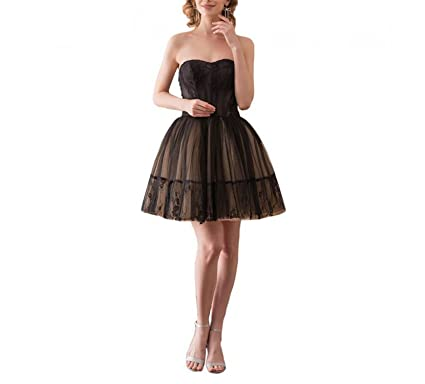 nboba Black Cocktail Dresses Sweetheart Lace Short Lace Ball Gown Party Formal Gowns Vestidos Cortos Same