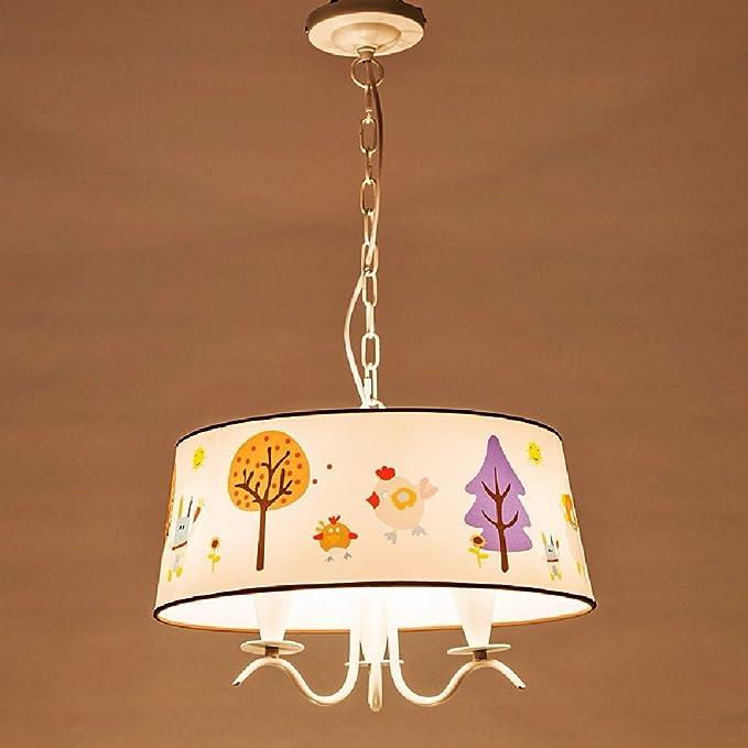 KHSKX Niños dormitorio dormitorio candelabros, lámparas de ...