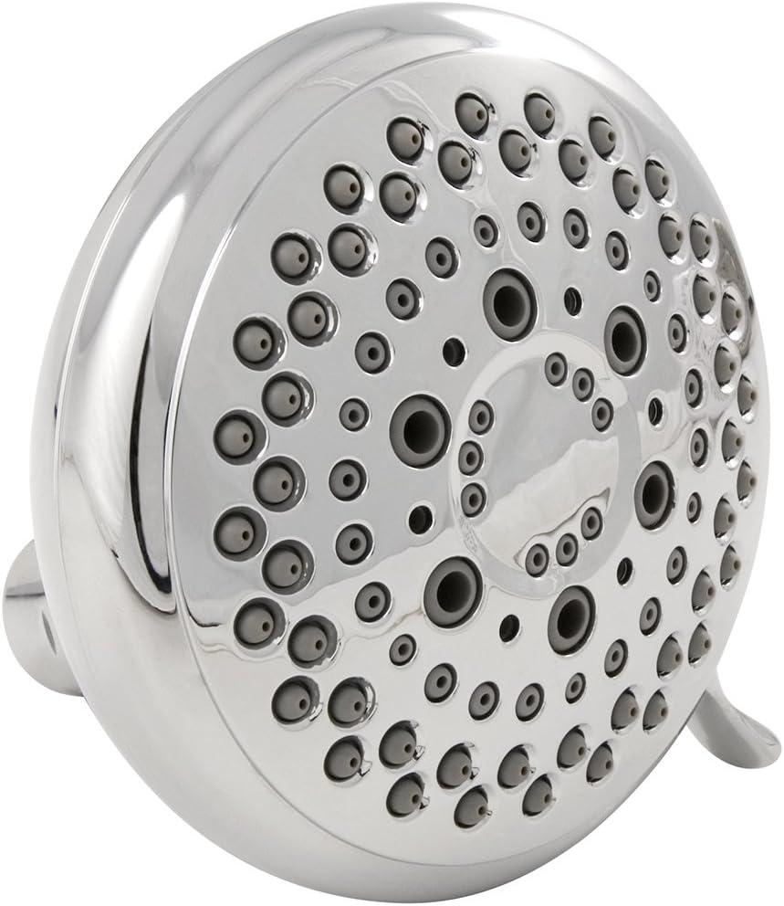 Distinctives Deluxe Massager Fixed Shower Head 9 Spray Settings Chrome Waxman 8675310