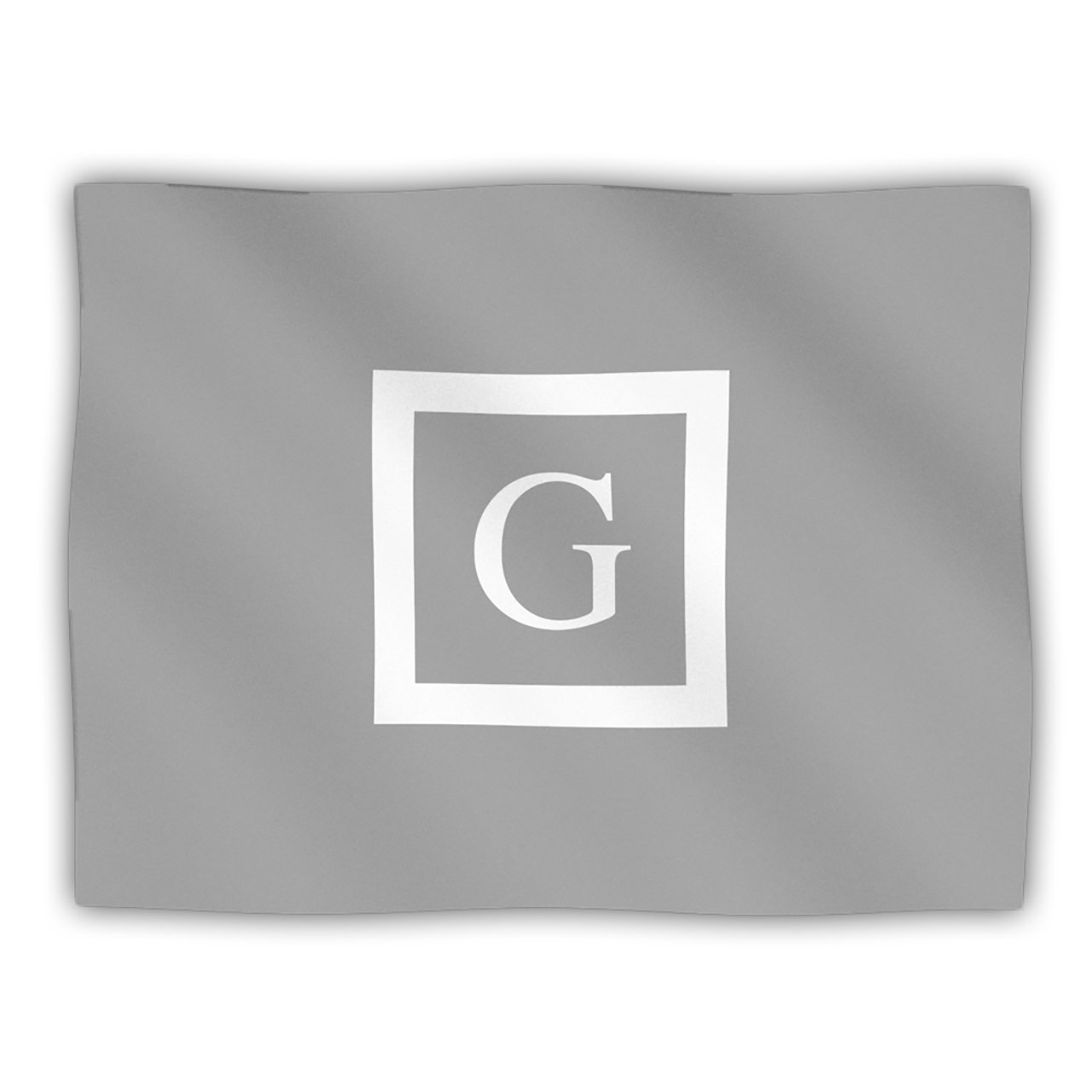 Kess InHouse Kess Original 'Monogram Solid Grey Letter G' Dog Blanket, 40 by 30-Inch