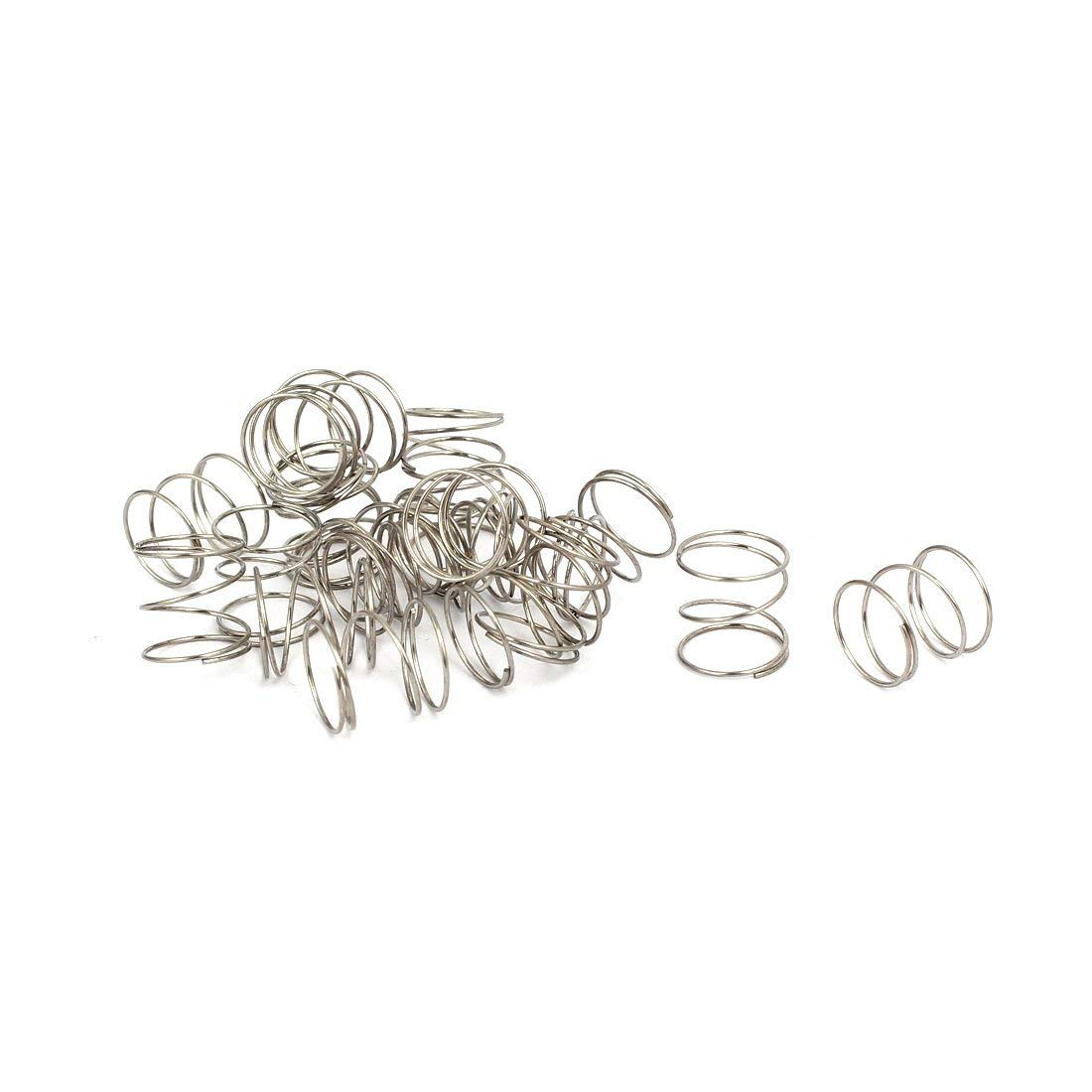 0.5mmx10mmx10mm 304 Stainless Steel Compression Springs 20pcs Miki&Co