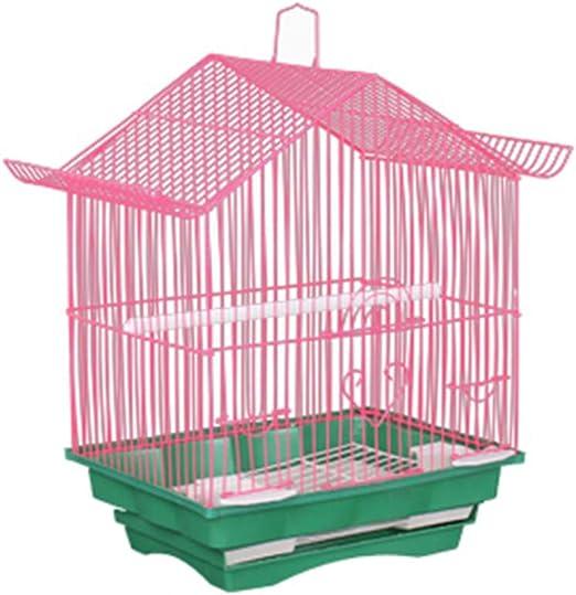 Vlook Jaula de cría de jaulas de Aves con Nido de pájaro y Escalera de Metal