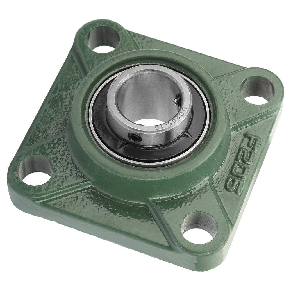 UCF205-16 Pillow Block Bearing Wear Resistance Pillow Block Square Bearing with Solid Base 4 Mounted Holes Bearing steel 30mm//25.4mm Mechanical Properties