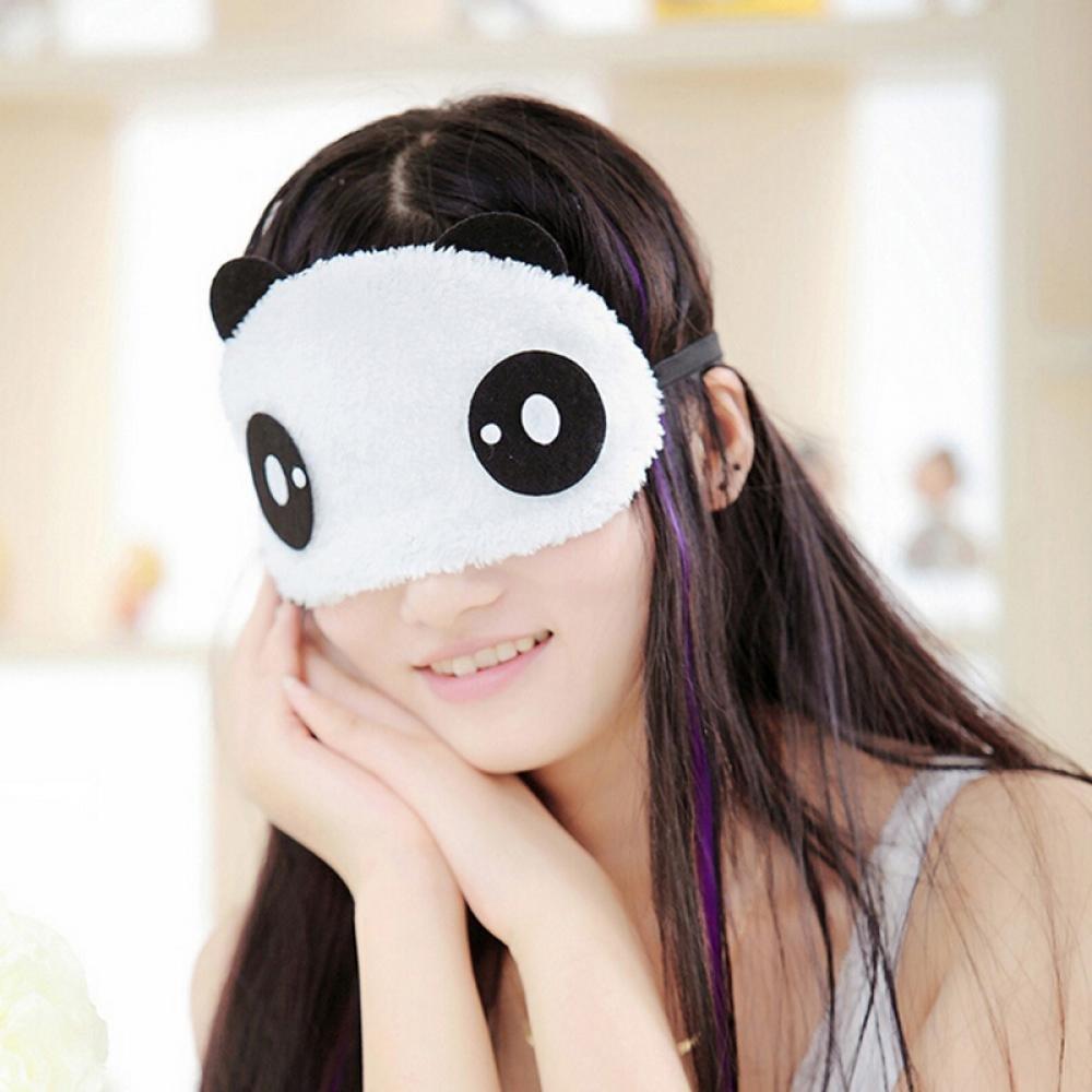GOOTRADES Panda Face Sleep Masks Eye Mask Sleeping Blindfold Nap Cover (pack of 2)
