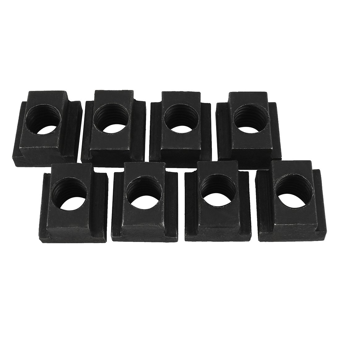 Aexit M14 Thread Nuts T-Slot Nut Black Oxide Plated Grade 8.8 Tapped T-Slot Nuts Through 8pcs by Aexit