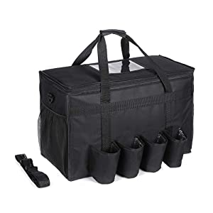 GULUNONG Insulated Food Delivery Bag with 4 Cup Holders 22