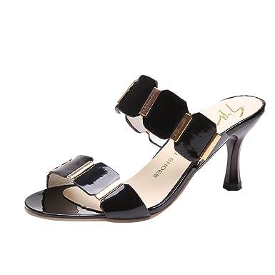 908551abd8e4 AJPJ(TM)❤️Women Fashion Fish Mouth Sandals Ankle High Thin Heels Sandals  Party