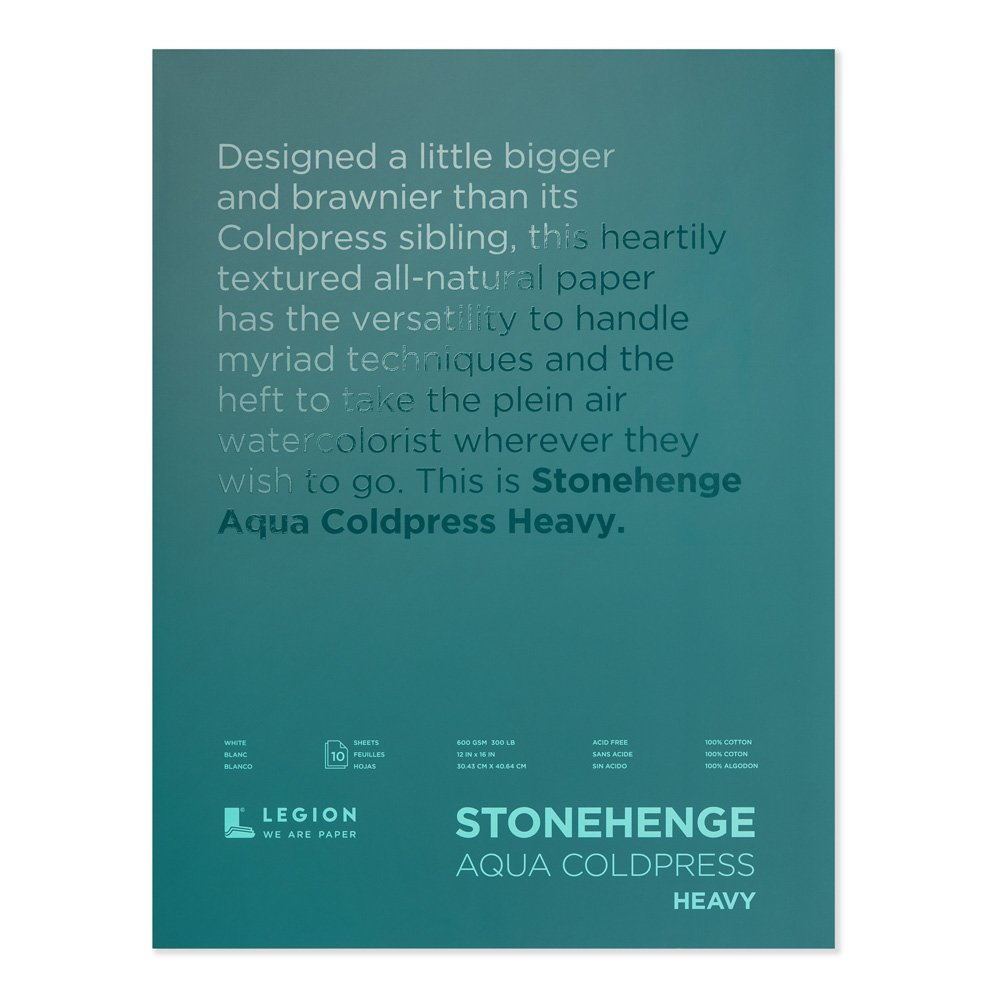 Stonehenge Stonehenge Stonehenge Legion Aqua Heavy WaterFarbe Block, 300lb, Cold Press, 12 by 16 Inches, Weiß, 10 Sheets (L21-SQC300WH1216) 38298e