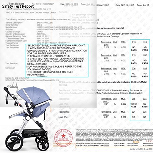 61OlD4%2BHSvL - Infant Toddler Baby Stroller Carriage - Cynebaby Compact Pram Strollers Single Stroller Add Cup Holder Footmuff Stroller Tray (Gray)