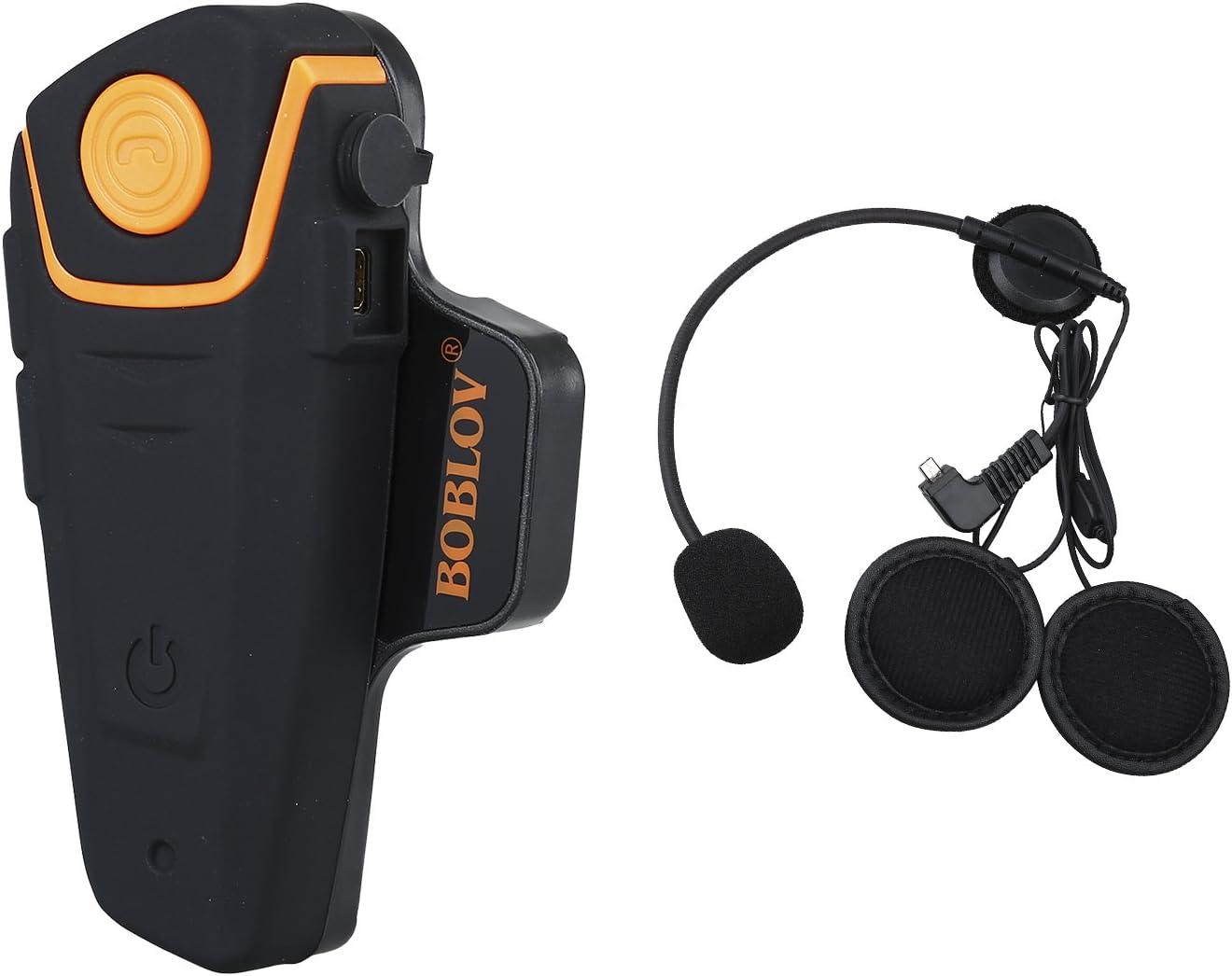 Bobov BT-S2 1000M BT casco de la motocicleta Auricular Bluetooth Intercom Moto Headset Intercom Interphone FM (Pack 1)