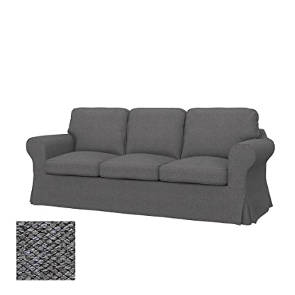 Soferia - Replacement Cover for IKEA EKTORP 3-seat Sofa, Nordic Grey
