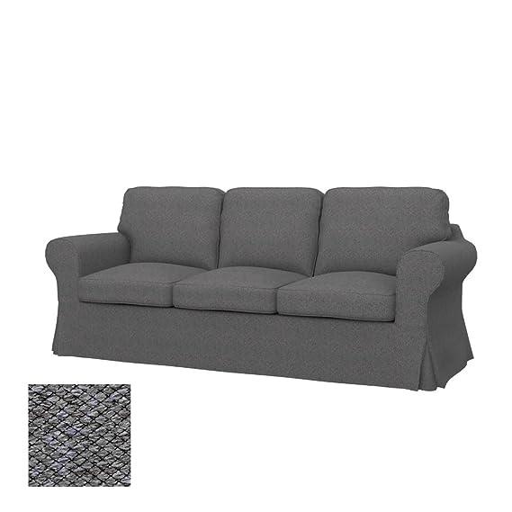 Soferia - Replacement Cover for IKEA EKTORP 3-seat Sofa, Nordic Grey