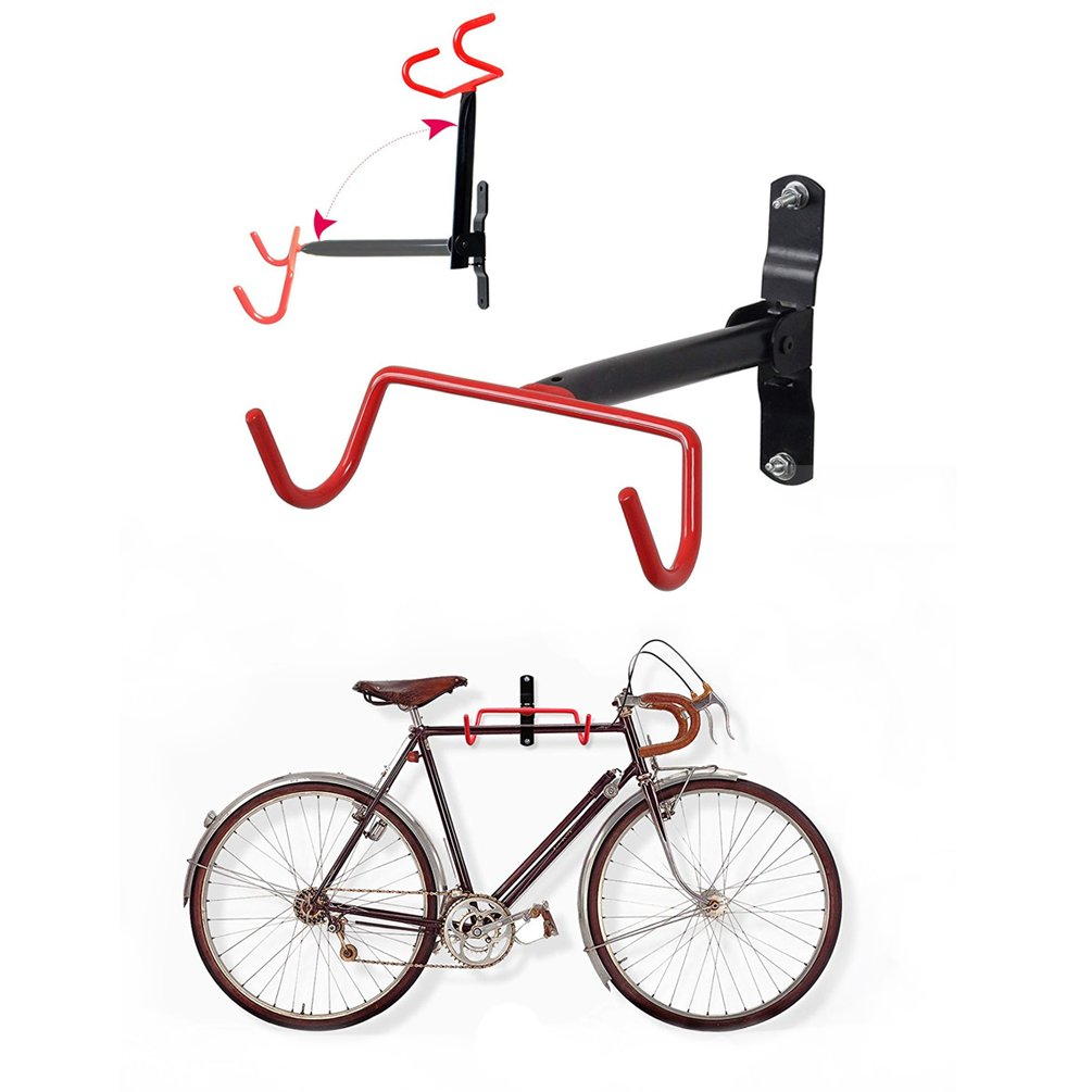 HOMEE Bike Hanger Wall Mount Bicycle Rack Wall Hook Flip-Up Bike Holder Stand Storage System for Garage and Shed HMSGG002