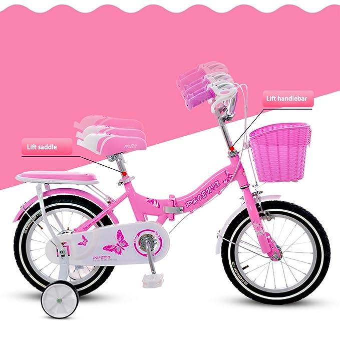 Fenfen Bicicleta Plegable para Niños 2-4-6 Años Bicicleta para Bebés 14/16/18 Pulgadas Chica Bicicleta Verde (Size : 18 Inches): Amazon.es: Hogar