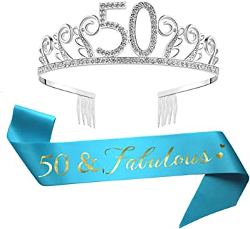 50th Birthday 50 Flashing Tiara Crown Princess Party Favor Costume Accessory