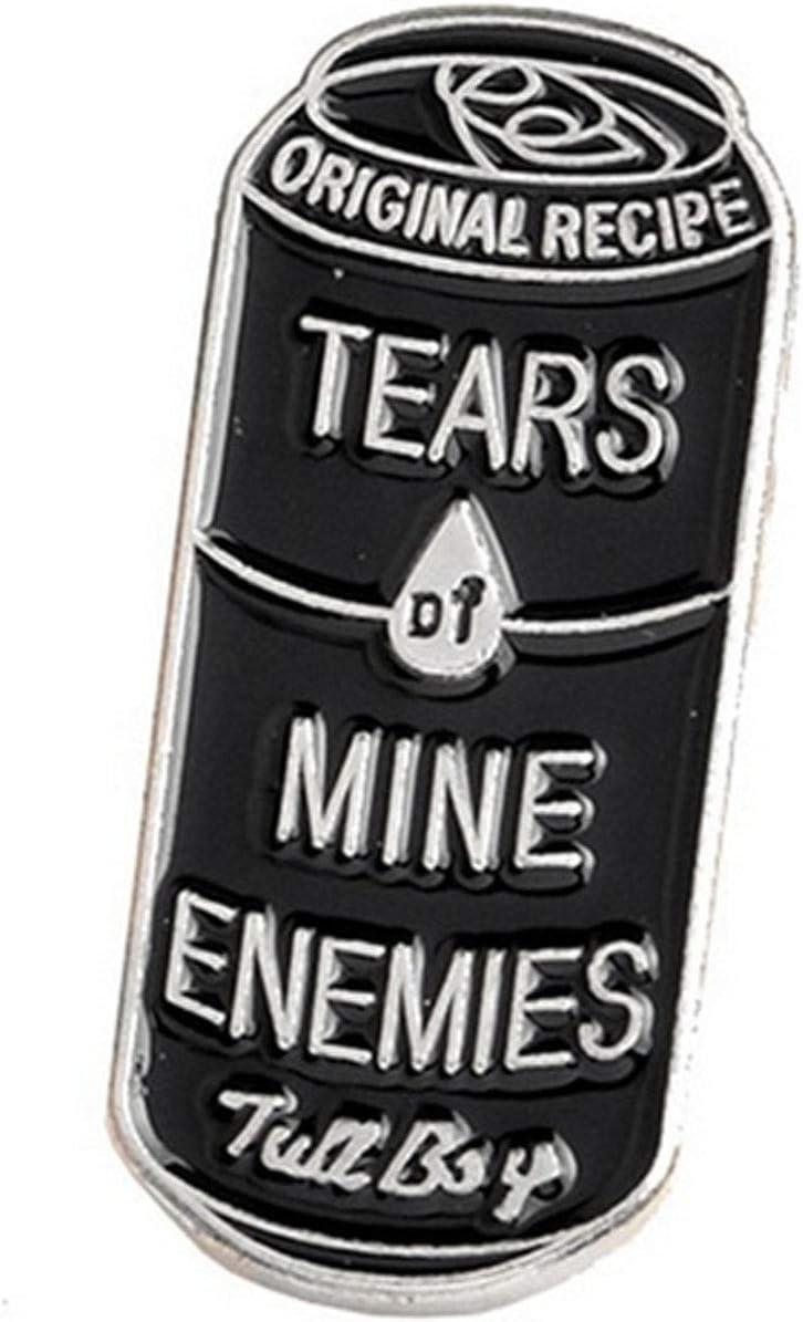 Pop Culture Candles Tears of My Enemies Enamel Pin Goth
