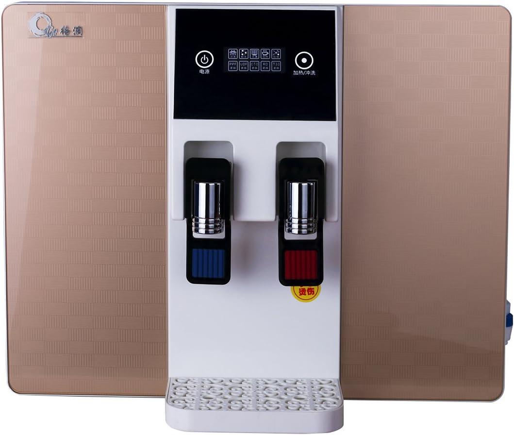 JIAYIDE Dispensador de agua y purificador de agua, una máquina de doble uso, doble uso, caliente y fría de doble uso dorado