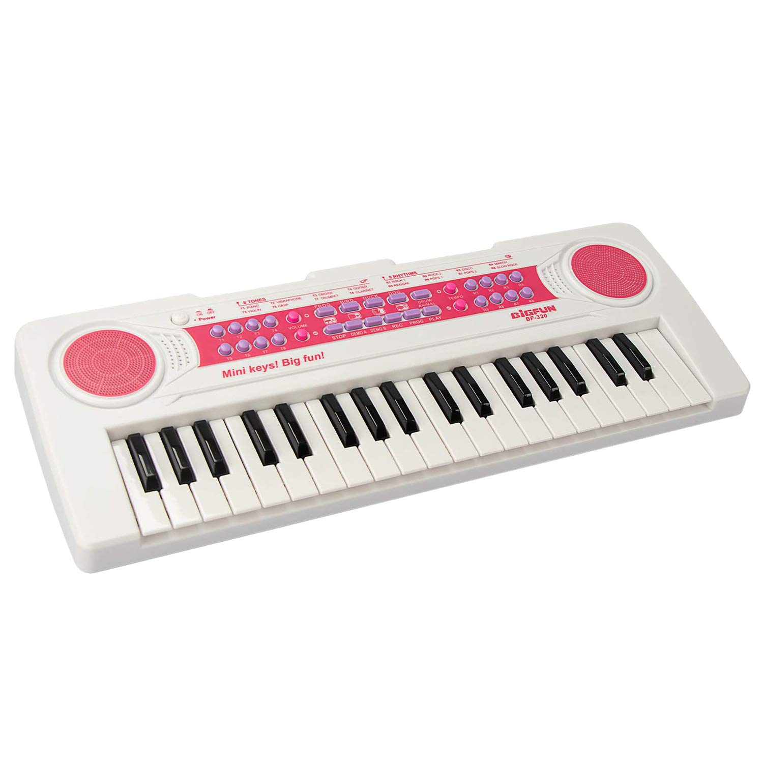 aPerfectLife 37 Keys Piano Keyboard for Kids Multifunction Portable Piano Electronic Keyboard Music Instrument for Kids Early Learning Educational Toy (White)