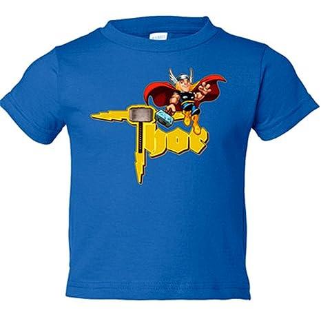 Camiseta Niño Thor Caricatura Azul Royal 3 4 Años Amazones Bebé