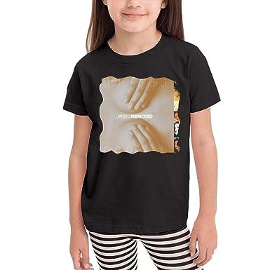 SuperLee Boys Girls Kids Janet Jackson Comfort Short Sleeve Tee Black