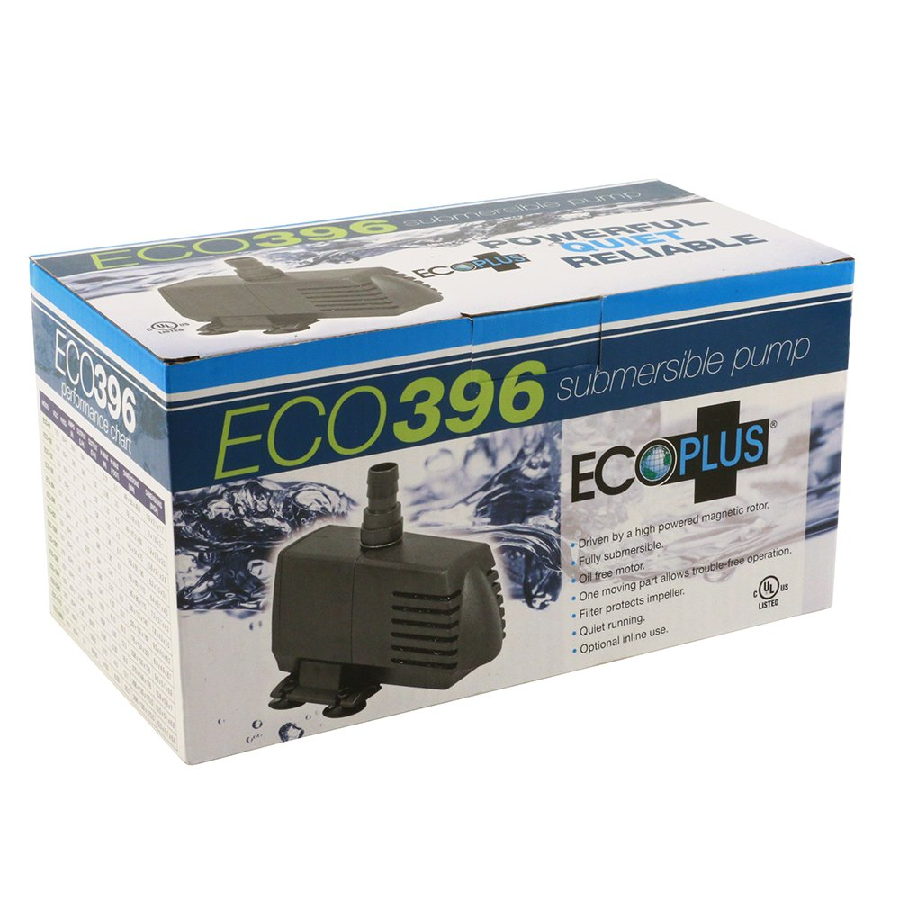 EcoPlus 396 GPH (1500 LPH, 20W) Submersible Water Pump w/ 6 ft Power Cord | Aquarium, Fish Tank, Fountain, Pond, Hydroponics by EcoPlus (Image #8)