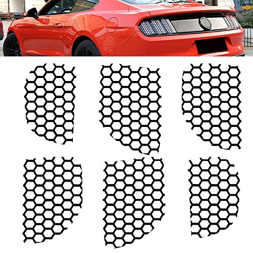 Mustang Honeycomb - YGMONER Honeycomb Sticker Precut Vinyl Tint Cover for 2015-2017 Ford Mustang Taillights