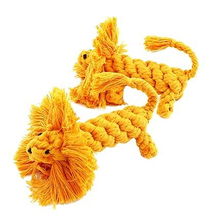 UKCOCO Juguetes para Masticar Mascotas, Juguete de Peluche de Diseño de León Linda, Juguetes
