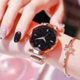 Acnos Hours 3,6,9 Represents Line and 12 Represent Diamond Rosegold 21st Century Magnet Analog Watch for Girls and Women