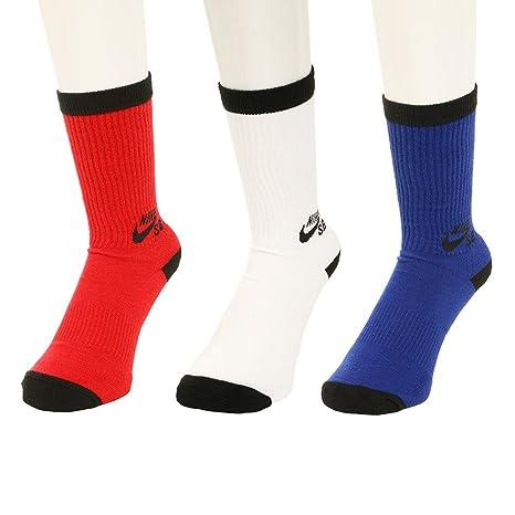 Nike SB - Paquete de 3 pares de calcetines de deporte, negro / blanco -