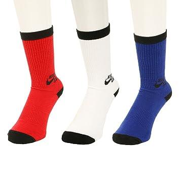 Nike SB - Paquete de 3 pares de calcetines de deporte, negro / blanco - - S: Amazon.es: Ropa y accesorios