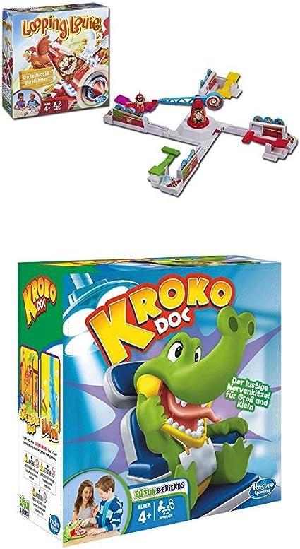 Hasbro Spiele 15692398 Looping Louie Vorschulspiel Kroko Doc Geschicklichkeitsspiel Kinderspiel Ab 4 Jahren Amazon De Spielzeug