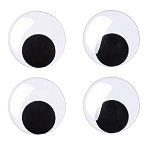 Sunmns 3 Inches Giant Wiggle Eyes with Self Adhesive, 4 Pack