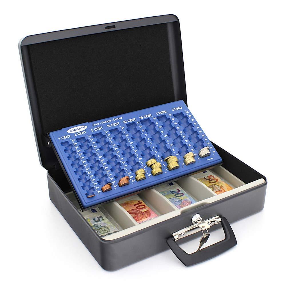 Caja de Seguridad para Guardar Dinero con Bandeja para Monedas y Billetes Rottner 4558 London